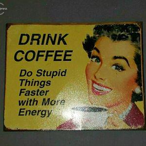 Vintage Metal 'Coffee Sign